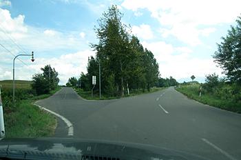 Y字路右方向