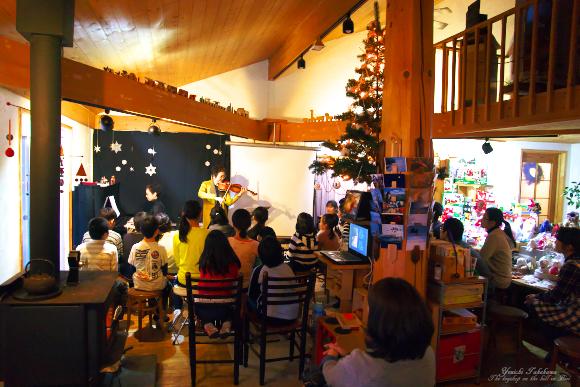 クリスマス会とバイオリンコンサート