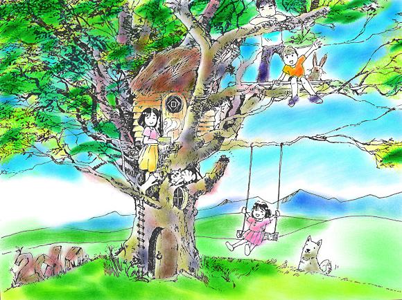 美瑛の丘のおもちゃ屋さんツリーハウス